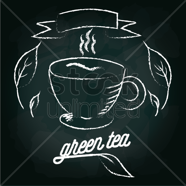green tea menu card design vector graphic
