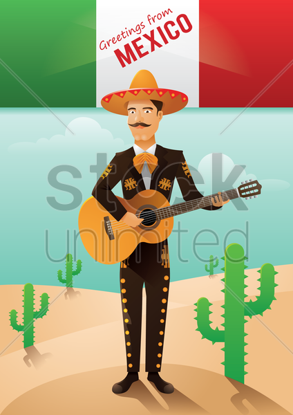 greeting from mexico vector graphic