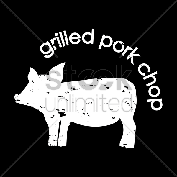grilled pork chop wallpaper vector graphic