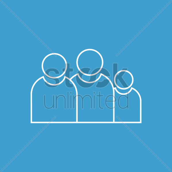 group icon vector graphic