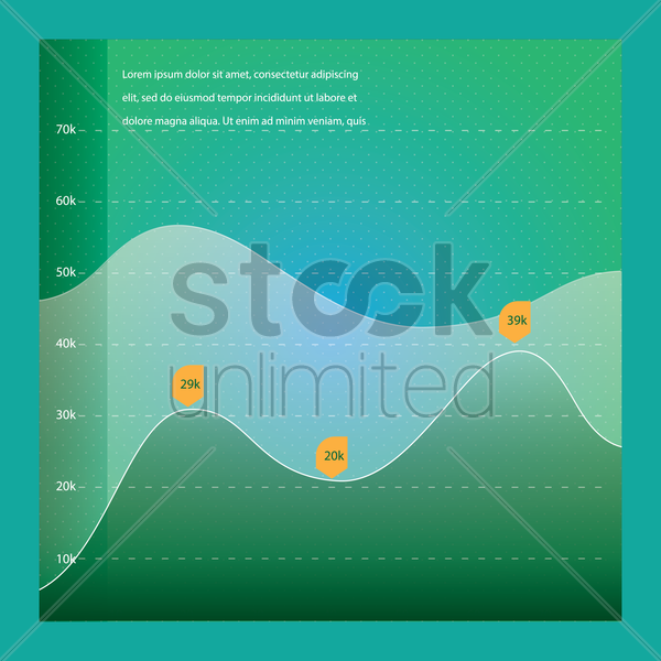 growth graph vector graphic