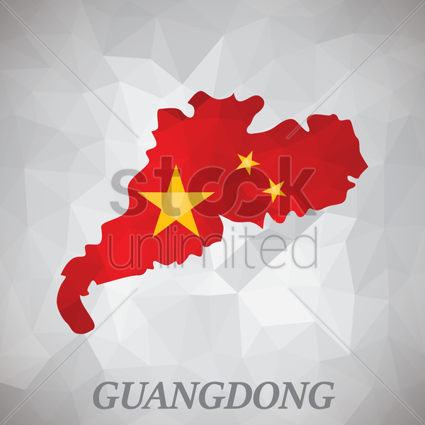 guangdong map vector graphic
