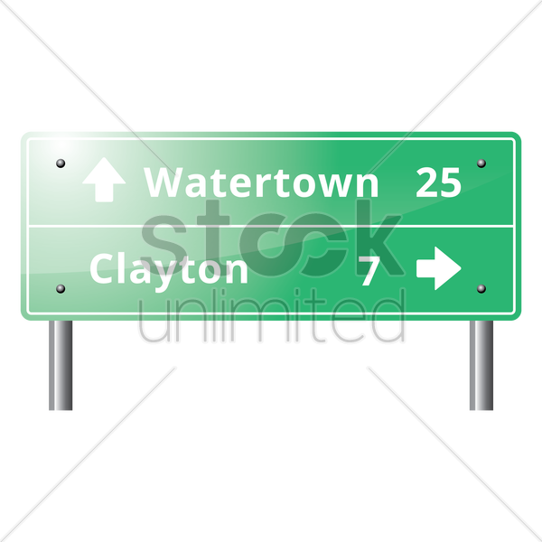 guide road sign vector graphic