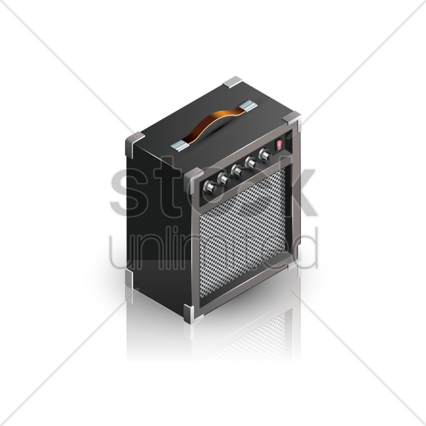 guitar amplifier vector graphic