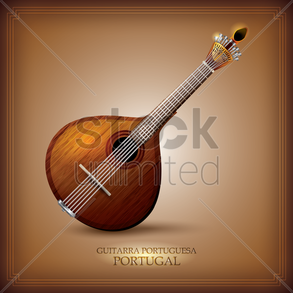guitarra portuguesa vector graphic