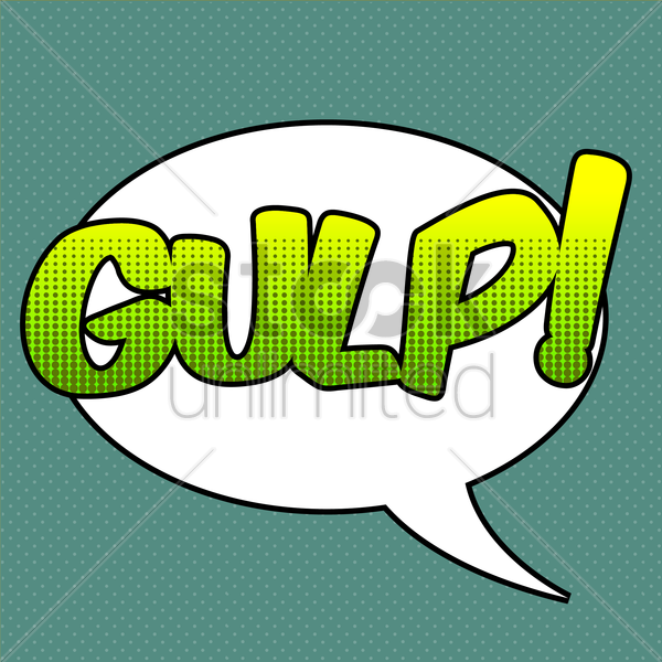 gulp comic speech bubble vector graphic