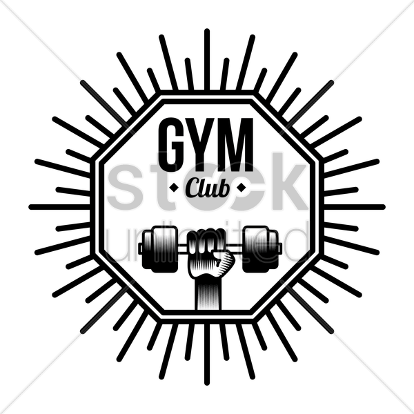gym club label vector graphic