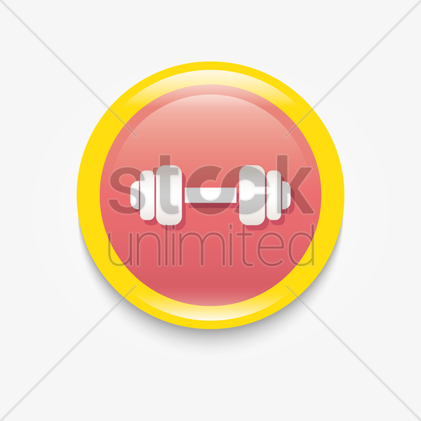 gym icon vector graphic