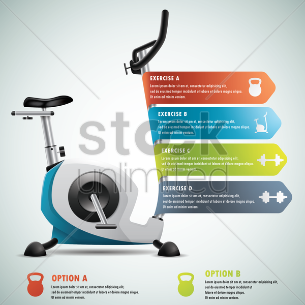 gym infographic vector graphic