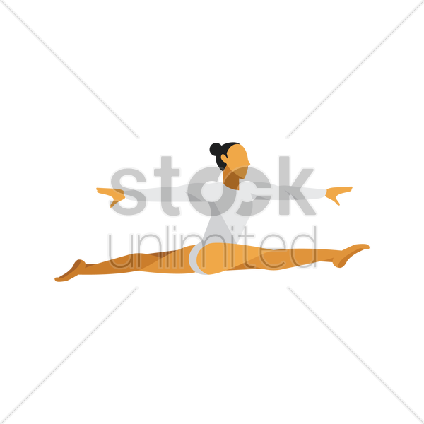 gymnast in action vector graphic
