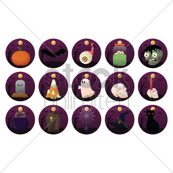 halloween themed vectors vector graphic
