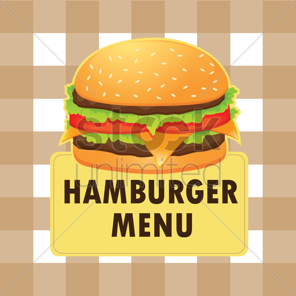hamburger menu design vector graphic