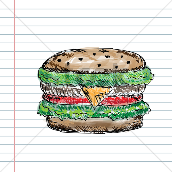 hamburger vector graphic