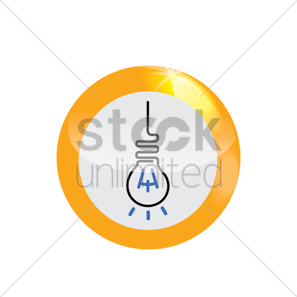 Free hanging bulb icon vector graphic