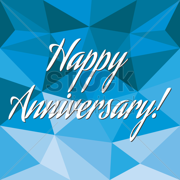 happy anniversary card vector graphic