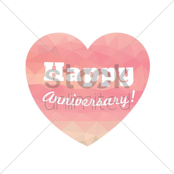 happy anniversary greeting vector graphic