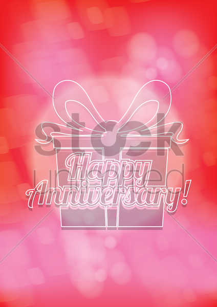 Free happy anniversary vector graphic