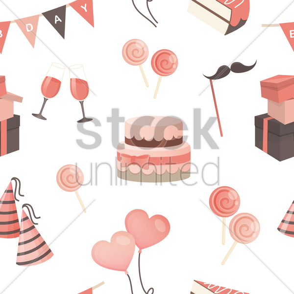 happy birthday background vector graphic