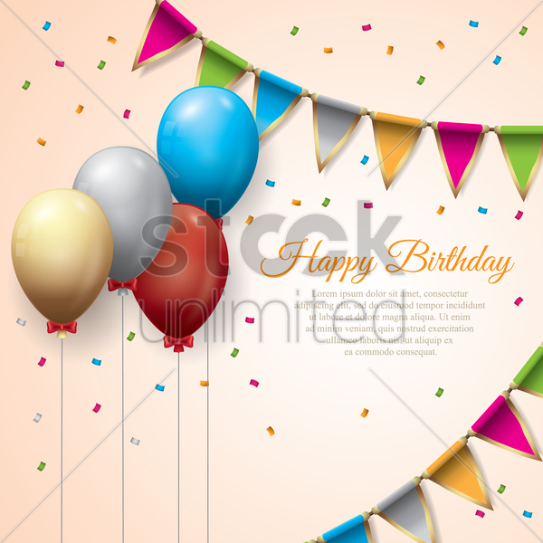 happy birthday wallpaper vector graphic