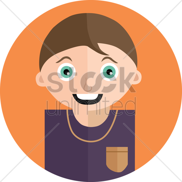 Free happy boy vector graphic