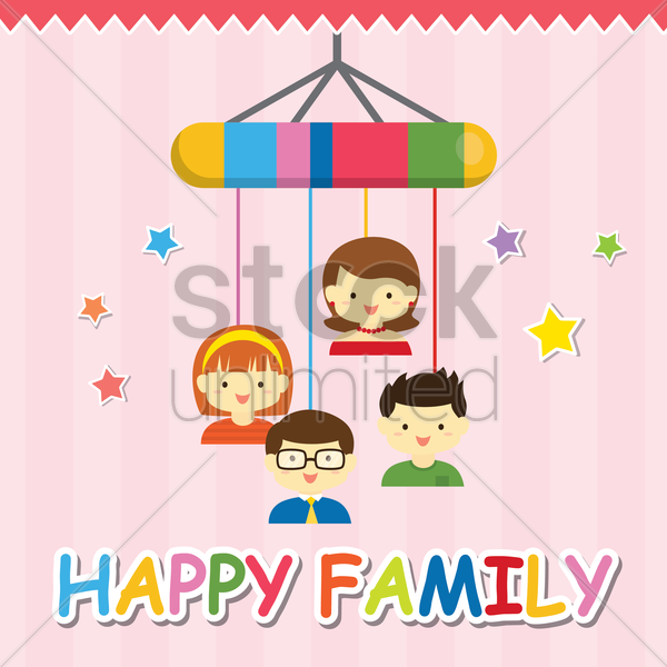 happy family vector graphic