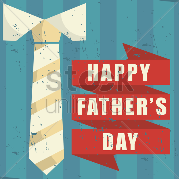 happy father's day card vector graphic