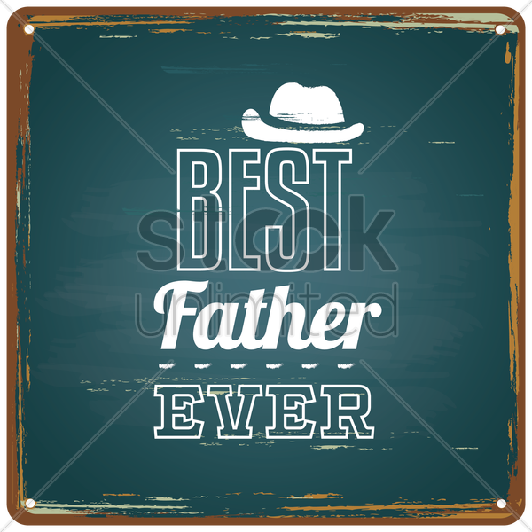 happy father's day greeting card vector graphic
