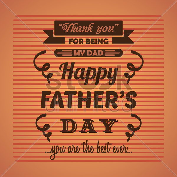 happy father's day greeting vector graphic