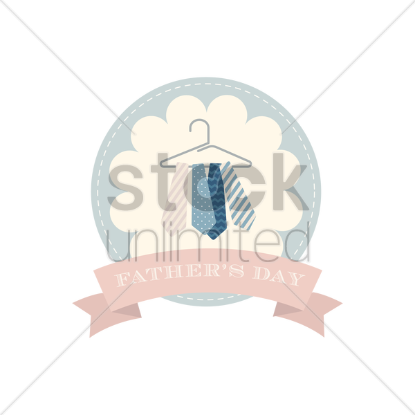 happy father's day label vector graphic