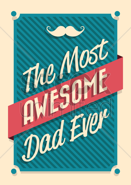 happy father's day poster vector graphic