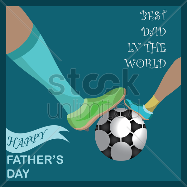 happy father's day vector graphic