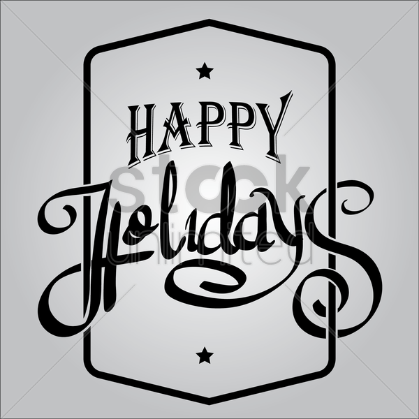 happy holidays vector graphic