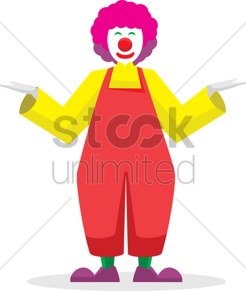 Free happy joker with open hands vector graphic