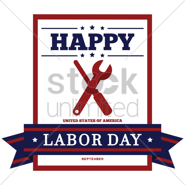 happy labor day invitation vector graphic