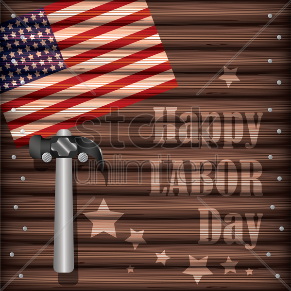 happy labor day vector graphic