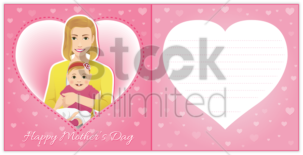 happy mothers day card vector graphic