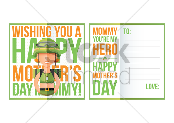 happy mothers day greeting vector graphic