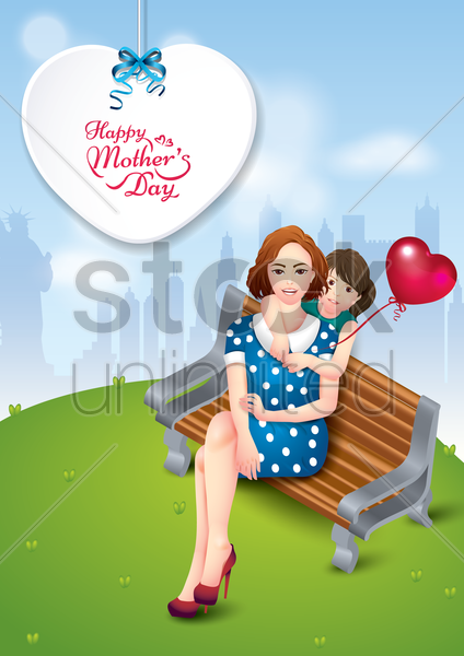 happy mothers day poster vector graphic