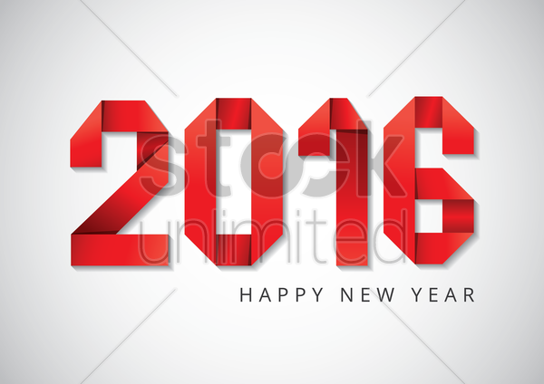 happy new year 2016 vector graphic