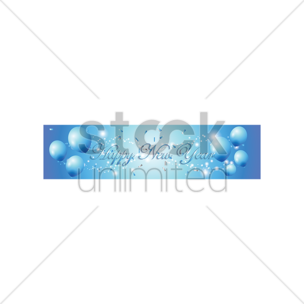 happy new year banner vector graphic