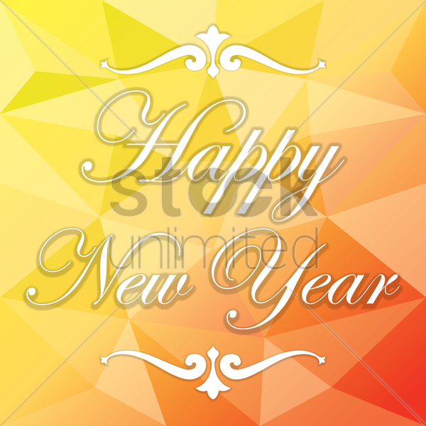 happy new year vector graphic