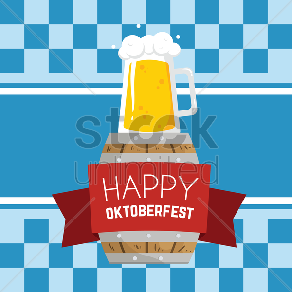 Free happy oktoberfest design vector graphic