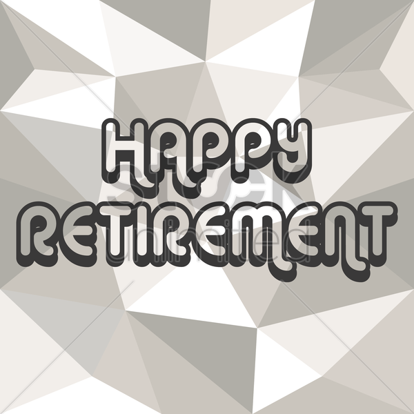 happy retirement card vector graphic