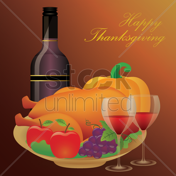 happy thanksgiving poster vector graphic