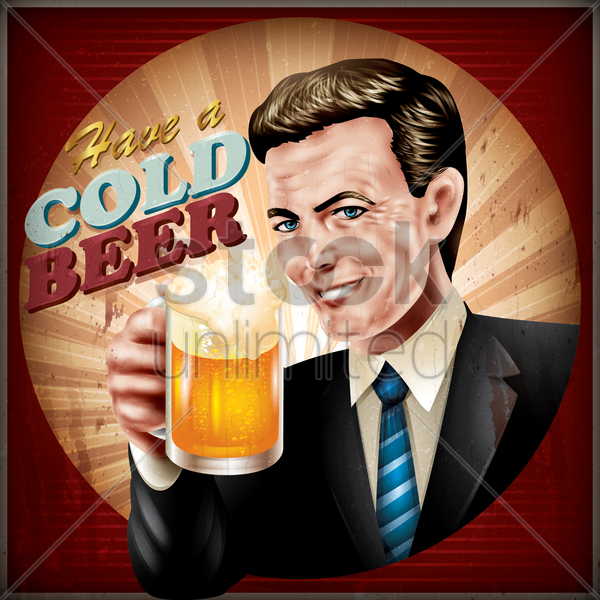 have a cold beer wallpaper vector graphic
