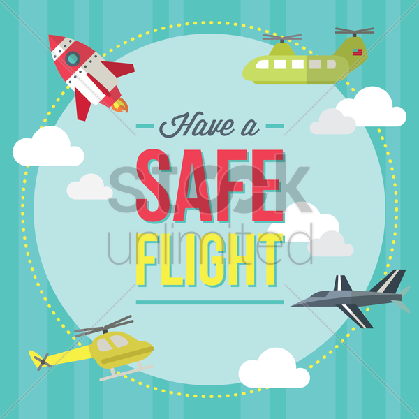 Have A Safe Flight Icon Vector Image 1410955
