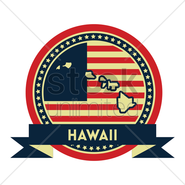 Free hawaii map label vector graphic
