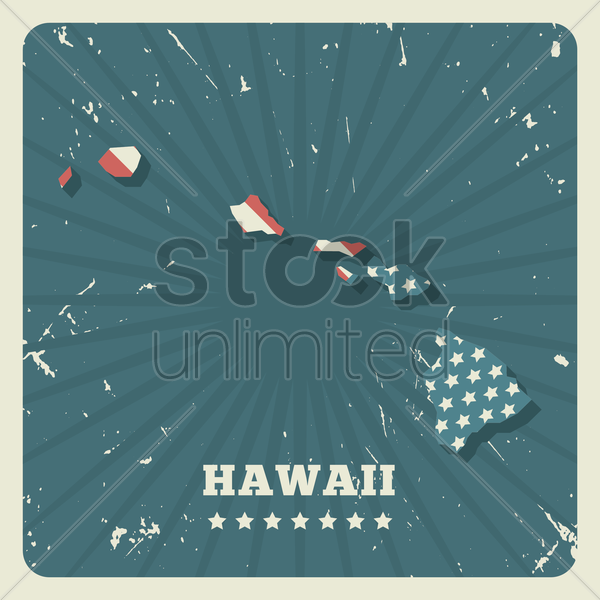 hawaii map vector graphic