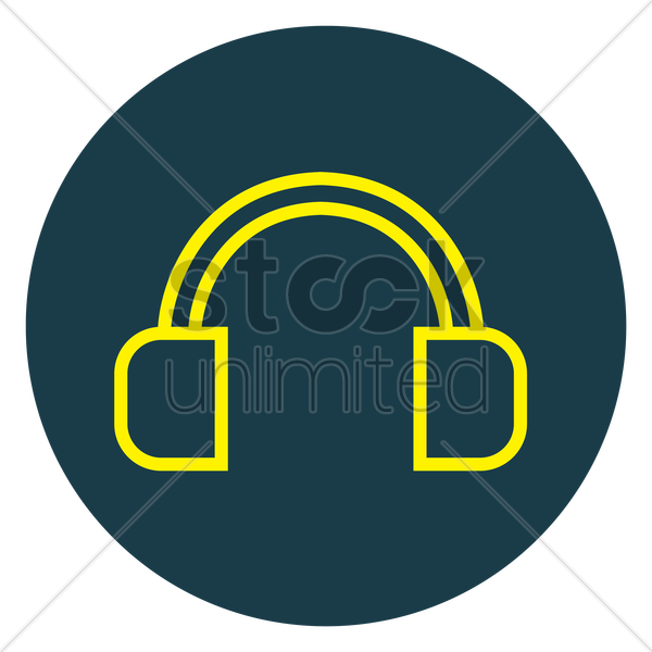 headset vector graphic