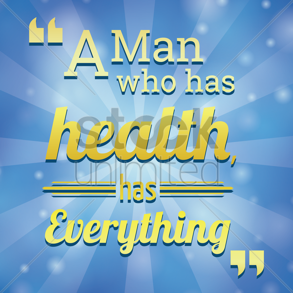 health motivational quote vector graphic